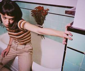 bathroom, bathtub, and girl image