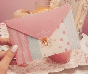 Letter, pastel, and pink image