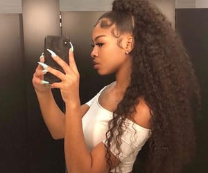hair, edges, and curly hair image