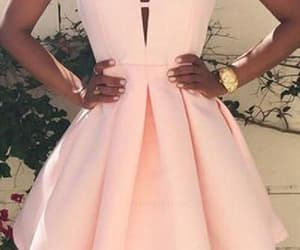prom dresses, pink prom dresses, and cheap homecoming dress image