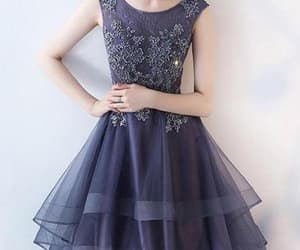 lace homecoming dresses, prom dress short, and prom dress with appliques image