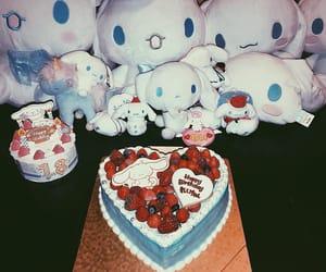 cake, heart, and ぬいぐるみ image