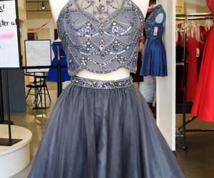 a-line homecoming dresses, grey homecoming dresses, and modest homecoming dresses image