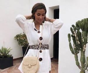 bag, dress, and summer image