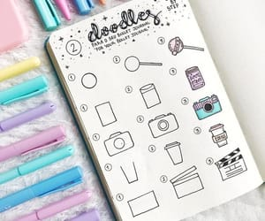 doodles, school, and bujo image