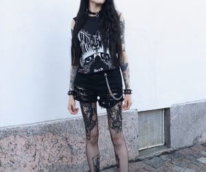 dark fashion, goth girls, and tattooed girls image