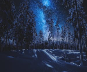 sky, snow, and winter image