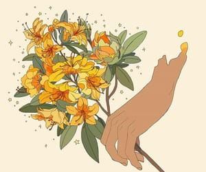 flowers, background, and drawing image