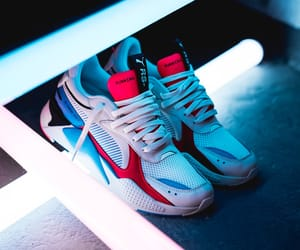 blue, puma, and red image