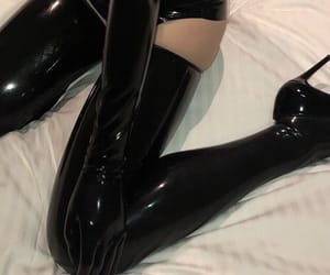 black, aesthetic, and latex image