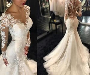 wedding dress, wedding dress sexy, and wedding dress mermaid image