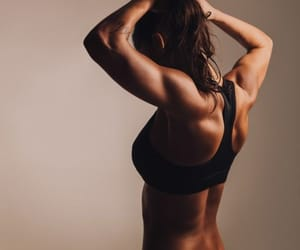 back, fitness, and muscles image