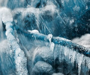 frozen, blue, and ice image