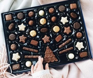 chocolate, food, and christmas image