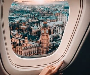 travel, london, and plane image
