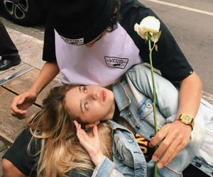 couple, Relationship, and rose image