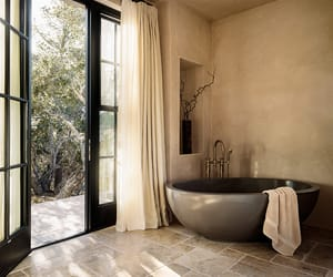 bath, bathroom, and home image
