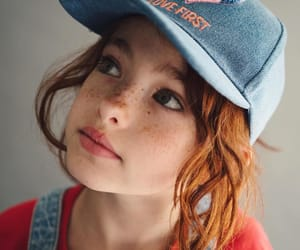 child, redhead, and freckles image