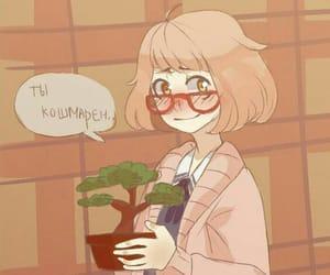 anime, anime girl, and glasses image