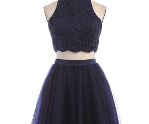 blue homecoming dresses, homecoming dresses a-line, and navy homecoming dresses image