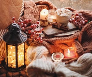 autumn, candle, and cozy image