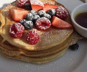 food, pancakes, and dessert image