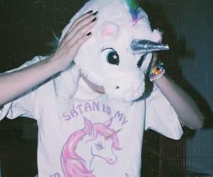 unicorn, grunge, and girl image