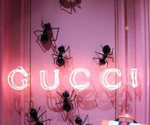 gucci, pink, and neon image