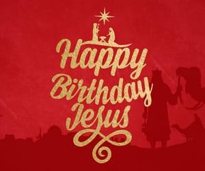 christmas, jesus, and happy birthday image