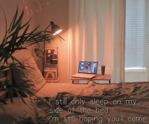 bed, laptop, and lonely image
