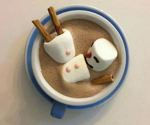 drink, marshmallow, and coffee image