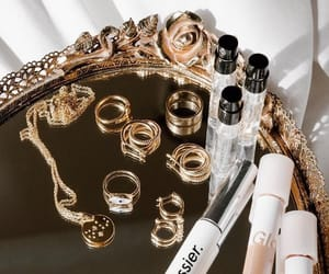 makeup, accessories, and gold image