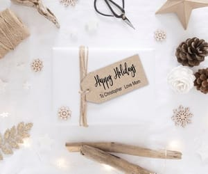 etsy, kraft paper, and christmas tag image
