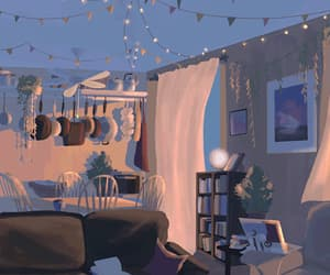 animation, wind, and beautiful room image