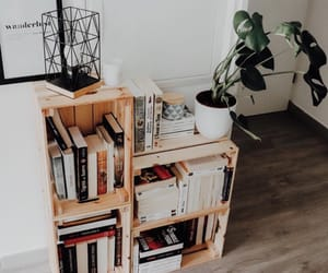 books, bookshelf, and home image