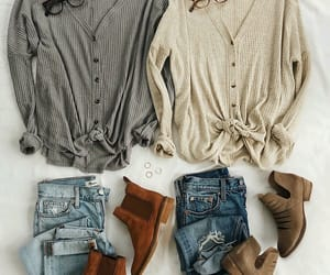 beautiful, boots, and cardigan image