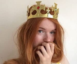 redhead, Queen, and girl image