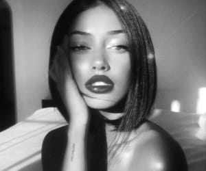 girl, cindy kimberly, and black and white image