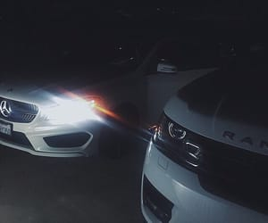 car, mercedes, and range rover image