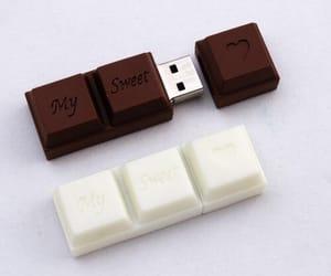 chocolate, usb, and sweet image