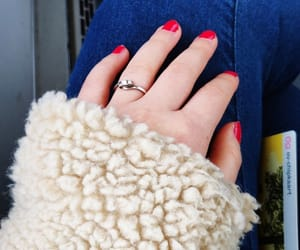nailpolish, nails, and red nails image
