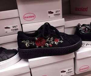 black, roses, and creepers image