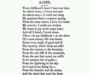 alone and poem image
