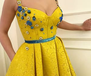 coctail, yellow, and dress image