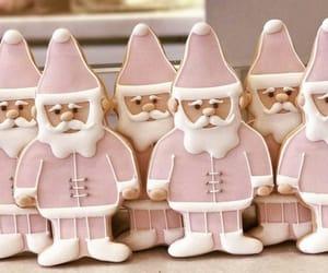 christmas, pink, and santa image