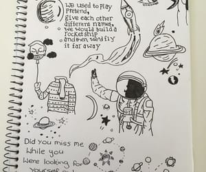 astronauts, drawing, and quote image