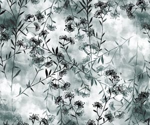black and white, floral wallpaper, and self adhesive image