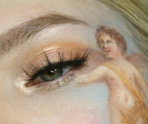 makeup, angel, and art image