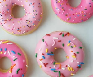 bright pink, pink, and donuts image