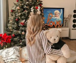 christmas, christmas tree, and girl image